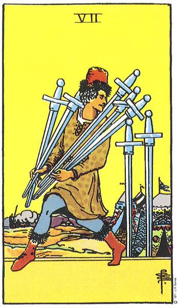 Zwaarden Zeven – 7 of Swords