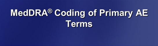 MedDRA coding